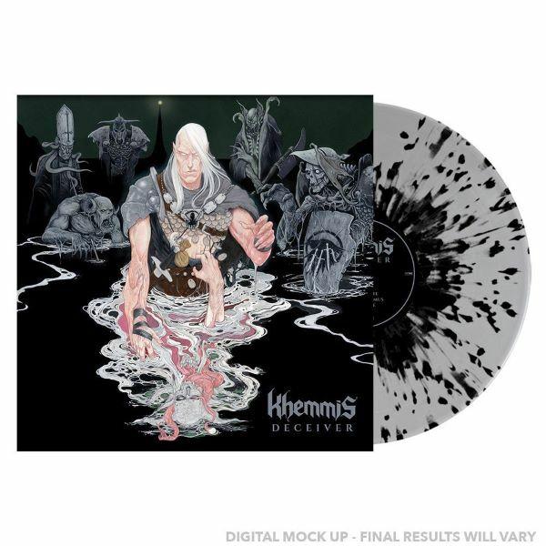 KHEMMIS, deceiver (grey / black splatter) cover