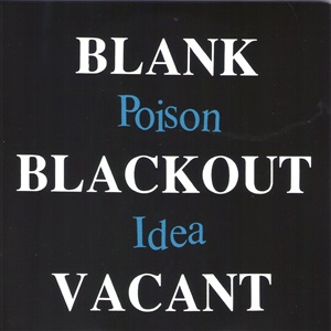 POISON IDEA, blank blackout cover