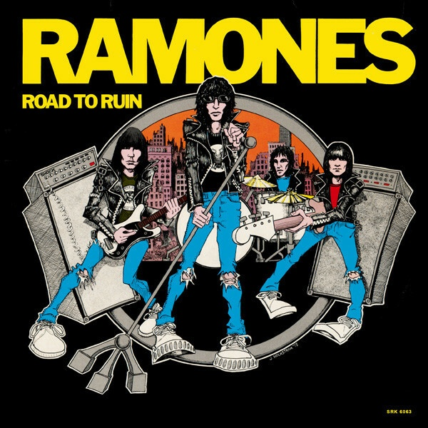 RAMONES, road to ruin cover