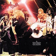 Cover NEW YORK DOLLS, too much too soon