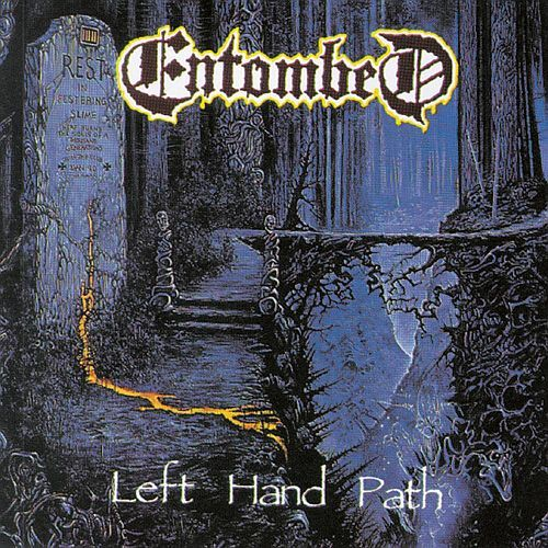 ENTOMBED, left hand path cover