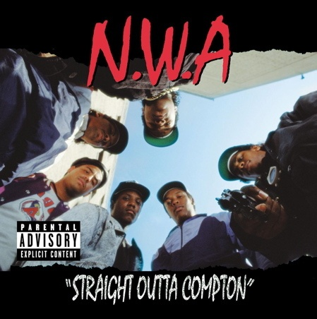 N.W.A., straight outta compton cover