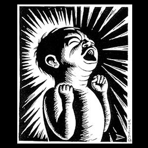 Cover ERIC DROOKER, crying baby (boy), black