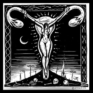 ERIC DROOKER, crucified woman (boy), black cover