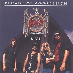 SLAYER, live: a decade of aggression cover