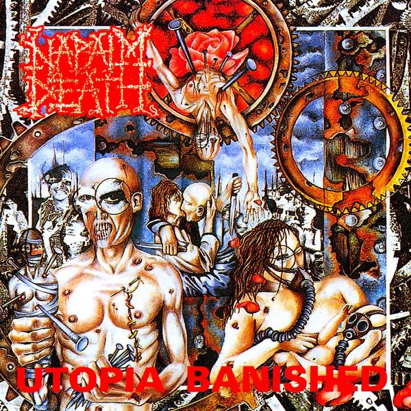 Cover NAPALM DEATH, utopia banished