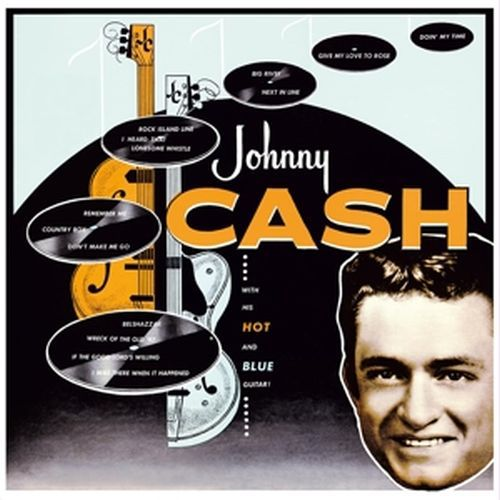 Cover JOHNNY CASH, with his hot & blue guitar