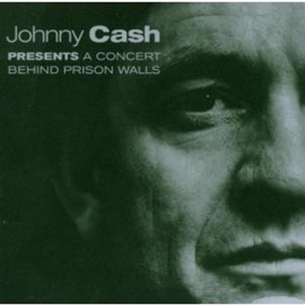 JOHNNY CASH, a concert behind prison wall cover