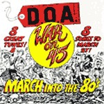 Cover D.O.A., war on 45