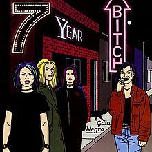 SEVEN YEAR BITCH, gato negro cover