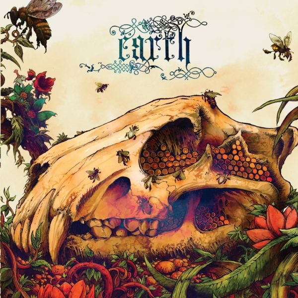 Cover EARTH, the bees made honey in the lion`s skull