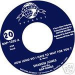 Cover SHARON JONES, how long do i have to wait for you?