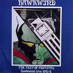 Cover HAWKWIND, text of festival - live 70-72