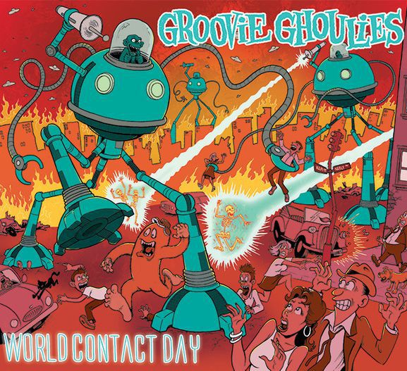 GROOVIE GHOULIES, world contact day cover