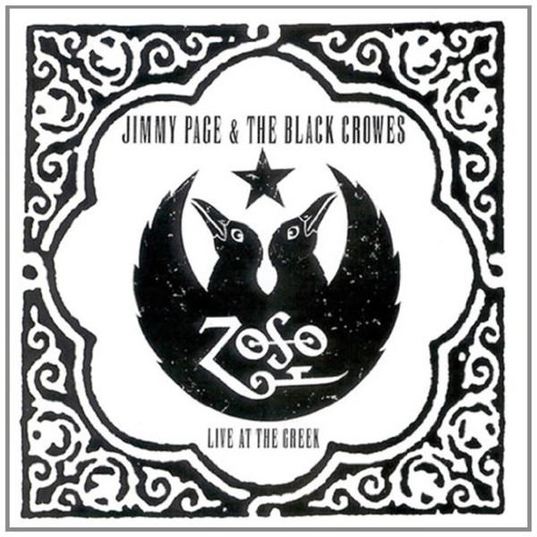 JIMMY PAGE & BLACK CROWES, live at the greek cover