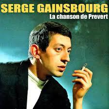 SERGE GAINSBOURG, la chanson de prevert cover