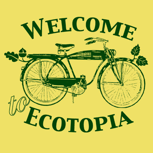 Cover ZUM HEIMATHAFEN, ecotopia (girl), maize yellow