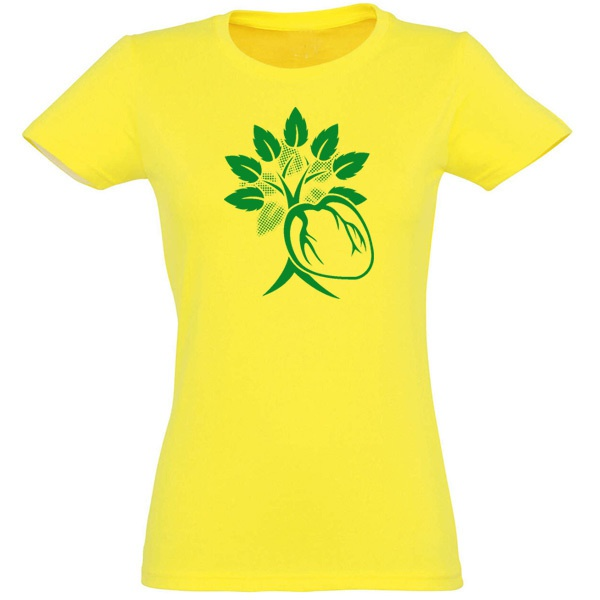 Cover RISOM, green heart (girl), brazilian yellow