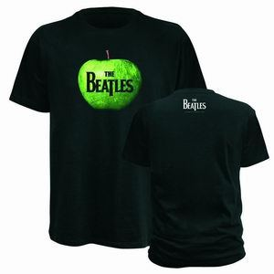 Cover BEATLES, apple logo_shirt_black