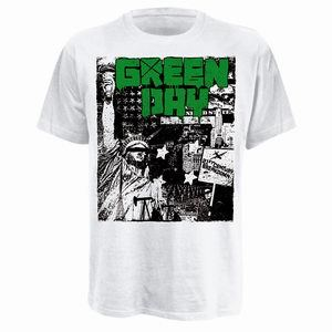 Cover GREEN DAY, state of liberty_shirt_white