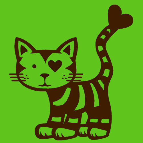 Cover RAUTIE, love cat (boy), green