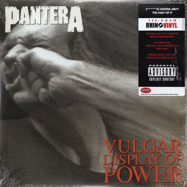 PANTERA, vulgar display of power cover