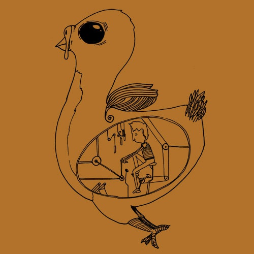 Cover ZUM HEIMATHAFEN, inside the bird (boy), sudan brown