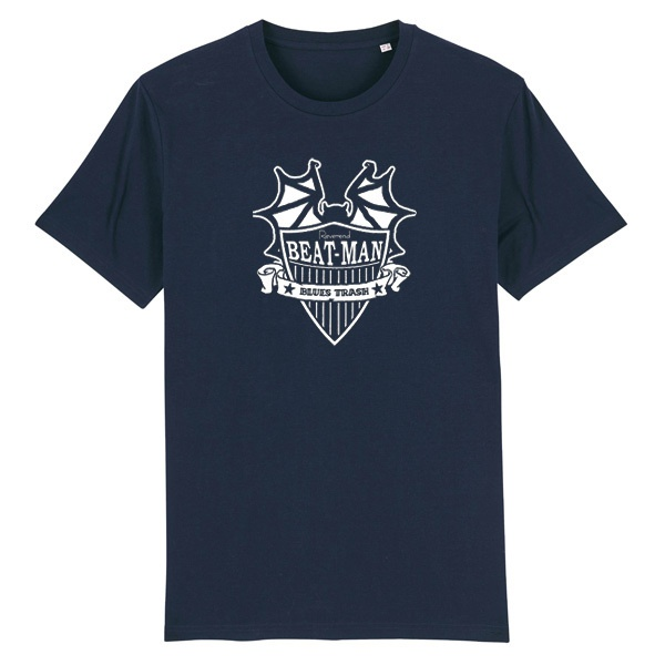 Cover REVEREND BEAT-MAN, beat-man logo (boy), navy