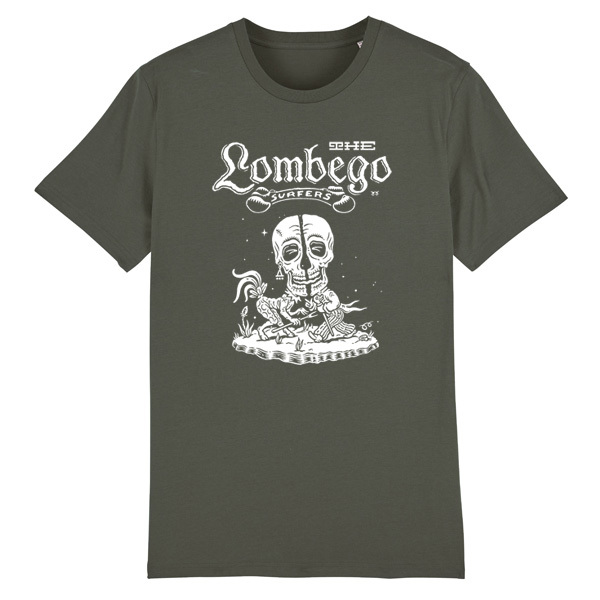 Cover LOMBEGO SURFERS, pagan thrills (boy), charcoal