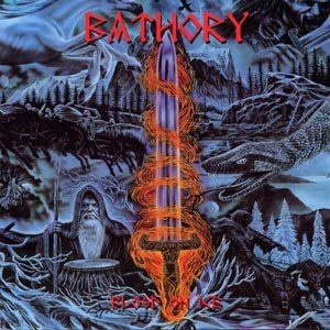 BATHORY, blood and ice cover