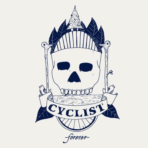 ZUM HEIMATHAFEN, cyclist forever (girl), vintage white cover