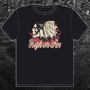 Cover HIGH ON FIRE, peace pipe_black