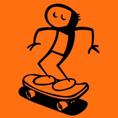 Cover RAUTIE, skateboard willy (girl), orange